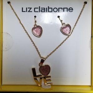 Liz Claiborne Jewelry - Liz Claiborne Necklace and Earrings Set
